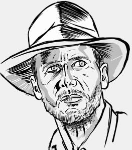 Art by Dan Burke. Indiana Jones.