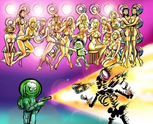 Cartoon Artwork. Dan Burke