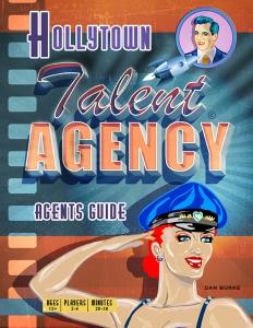 Hollytown Talent Agency Game. Art By Dan Burke.