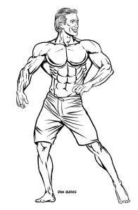 Physique man by Dan Burke.