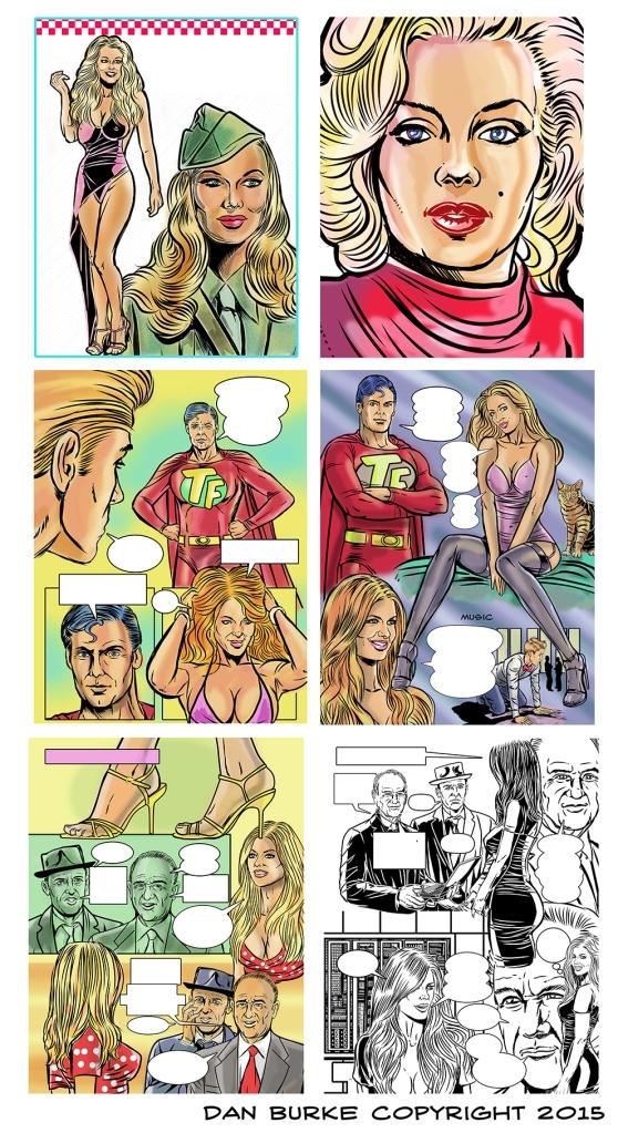 Comic Book art by Dan Burke.
