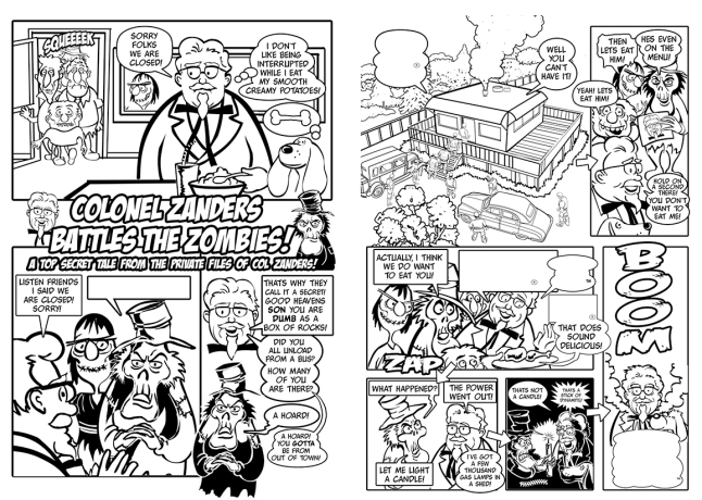 Cartoon comic pages.