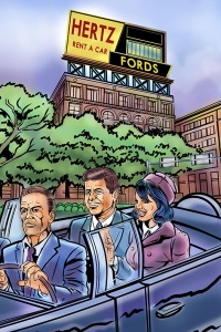 Illustration of JFK by Dan Burke. July 2015.