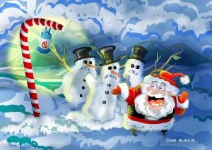 Santa Painting.