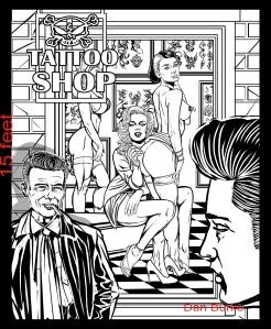 Tattoo Shop. Illustration by Dan Burke.