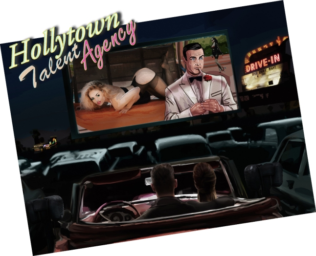 Drive-In Movie Painting.